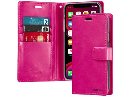 Pouzdro na iPhone 11 - Mercury, Bluemoon Diary HOTPINK