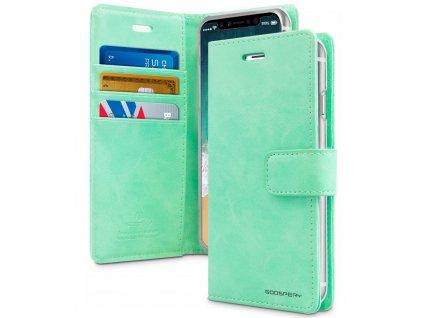 Pouzdro na iPhone 11 - Mercury, Bluemoon Diary MINT