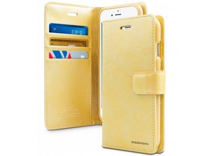 Pouzdro na iPhone 11 - Mercury, Bluemoon Diary GOLD