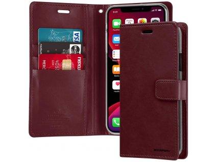 Pouzdro na iPhone 11 Pro MAX - Mercury, Bluemoon Diary WINE