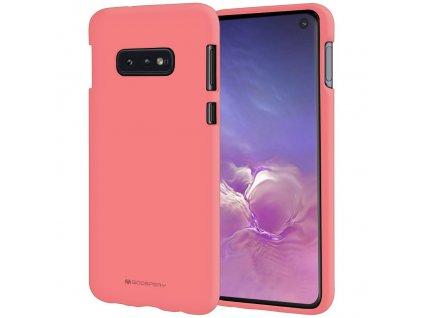 Pouzdro / kryt pro Samsung GALAXY S10E - Mercury, Soft Feeling Pink