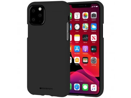 Ochranný kryt pro iPhone 11 Pro - Mercury, Soft Feeling Black
