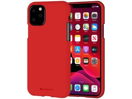 Ochranný kryt pro iPhone 11 Pro - Mercury, Soft Feeling Red