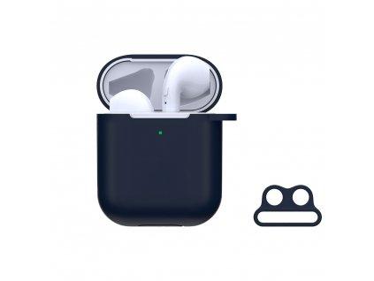 Pouzdro pro sluchátka AirPods - Devia, Naked Case Blue