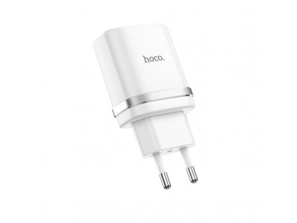 Nabíjecí AC adaptér pro iPhone a iPad - Hoco, C12Q QC3.0 White