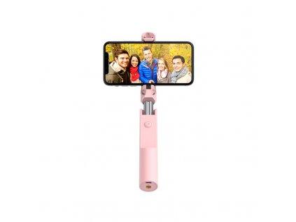 Bluetooth selfie tyč - Hoco, K12 Lisa Pink