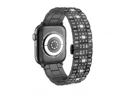 Kovový řemínek pro Apple Watch 42mm / 44mm - Hoco, WB13 Starlight Black