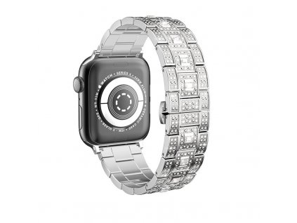 Kovový řemínek pro Apple Watch 42mm / 44mm - Hoco, WB13 Starlight Silver