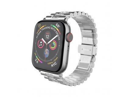 Kovový řemínek pro Apple Watch 42mm / 44mm - Hoco, WB08 Shining Silver
