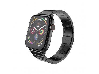 Kovový řemínek pro Apple Watch 42mm / 44mm - Hoco, WB07 Precious Black