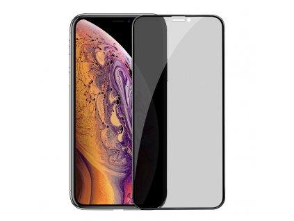 Ochranné tvrzené sklo pro iPhone XS MAX / 11 Pro MAX - Hoco, A13 Shatterproof 3D Anti-Spy