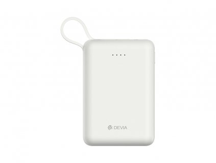Externí baterie / powerbanka - Devia, Smart Mini 10000mah White + Lightning kabel
