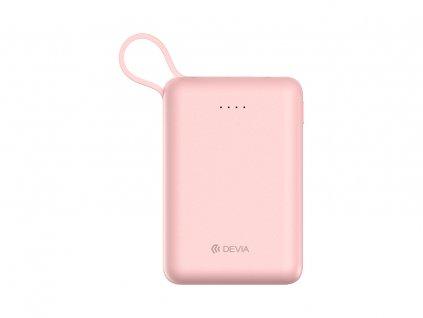 Externí baterie / powerbanka - Devia, Smart Mini 10000mah Pink + Lightning kabel