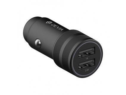 Auto-nabíječka pro iPhone a iPad - Devia, Traveller 2.4A Black