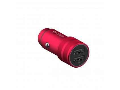 Auto-nabíječka pro iPhone a iPad - Devia, Traveller 2.4A Red