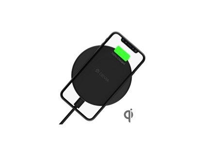 Bezdrátová nabíječka pro iPhone - Devia, Comet Black