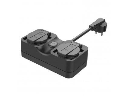 Venkonvní W-iFi zázuvka - Meross, Smart Wi-Fi Outdoor Plug 2 AC Ports