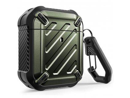 Pouzdro pro sluchátka AirPods - Supcase, Unicorn Beetle Pro Rugged Green