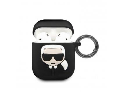 Pouzdro pro sluchátka AirPods - Karl Lagerfeld, Silicone Black