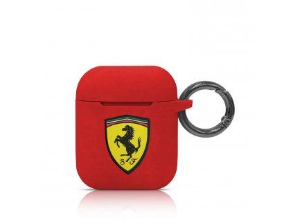 Pouzdro pro sluchátka AirPods - Ferrari, Silicone Red