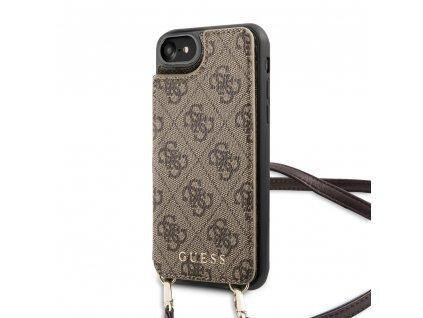 Ochranný kryt pro iPhone 7 / 8 / SE (2020) - Guess, 4G Crossbody Cardslot Brown