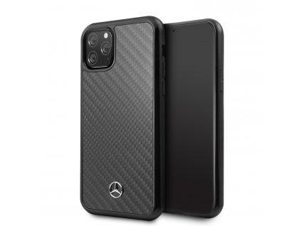 Ochranný kryt na iPhone 11 Pro MAX - Mercedes, Real Carbon Black