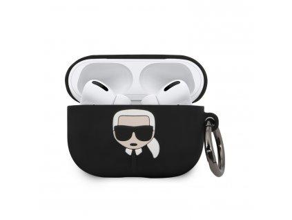 Pouzdro na sluchátka AirPods Pro - Karl Lagerfeld, Silicone Black