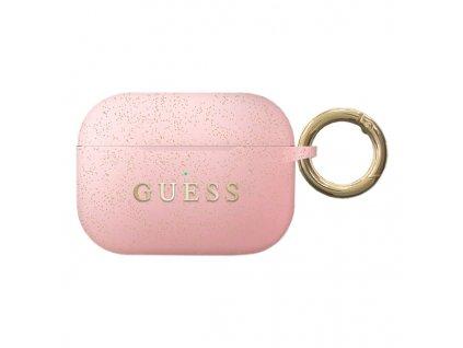 Pouzdro na sluchátka AirPods Pro - Guess, Silicone Pink