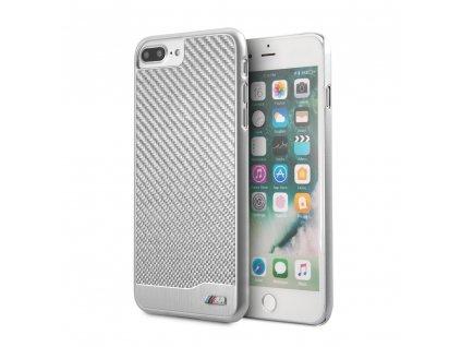 Ochranný kryt pro iPhone 7 PLUS / 8 PLUS - BMW, Carbon Aluminium Silver