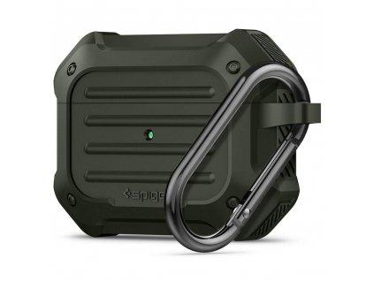 Pouzdro na sluchátka AirPods Pro - Spigen, Tough Armor Green