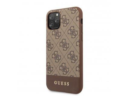 Ochranný kryt na iPhone 11 Pro - Guess, 4G Stripe Brown