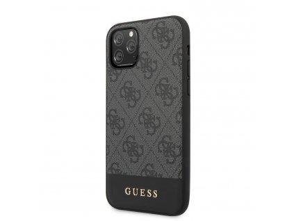 Ochranný kryt na iPhone 11 Pro - Guess, 4G Stripe Gray