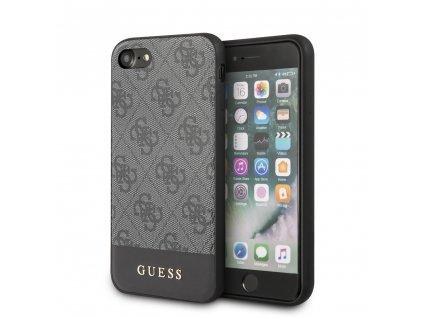 Ochranný kryt pro iPhone 7 / 8 / SE (2020) - Guess, 4G Stripe Gray
