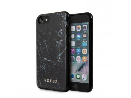Ochranný kryt pro iPhone 7 / 8 / SE (2020) - Guess, Marble Black