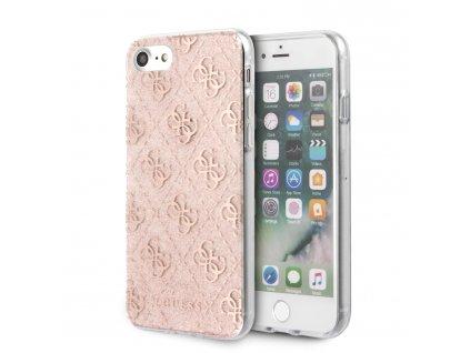 Ochranný kryt pro iPhone 7 / 8 / SE (2020) - Guess, Glitter 4G Peony Pink