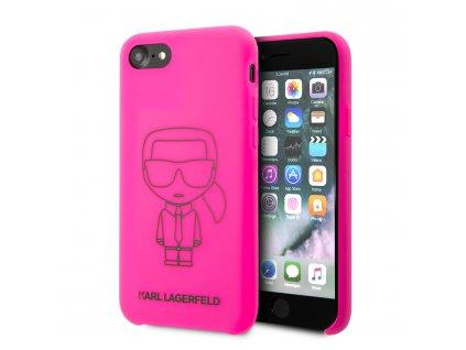 Ochranný kryt pro iPhone 7 / 8 / SE (2020) - Karl Lagerfeld, Silicone Ikonic Pink