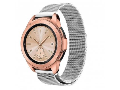 Řemínek pro Samsung Galaxy Watch 46mm - Tech-Protect, Milaneseband Silver