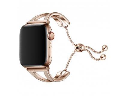 Pásek / řemínek pro Apple Watch 42mm / 44mm - Tech-Protect, Chainband Gold