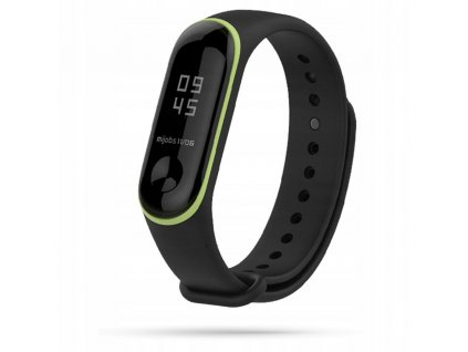 Řemínek pro Xiaomi Mi Band 3 / 4 - Tech-Protect, Smooth Black/Yellow