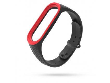 Řemínek pro Xiaomi Mi Band 3 / 4 - Tech-Protect, Sporty Black/Red