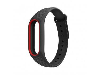 Řemínek pro Xiaomi Mi Band 2 - Tech-Protect, Smooth Black/Red