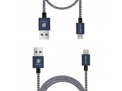 Kabel MICRO-USB - DuxDucis, 2-PACK SET (100cm+20cm) Blue