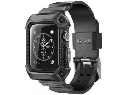 Řemínek s pouzdrem pro Apple Watch 42mm - Supcase, Unicorn Beetle Black