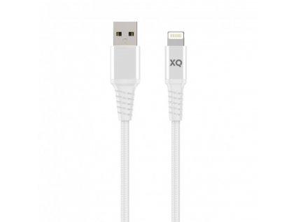 Certifikovaný kabel USB-A/Lightning - Xqisit, Extra Strong Braided 200cm White
