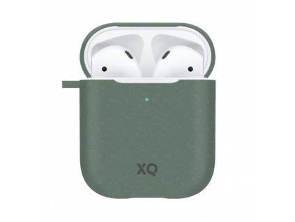 Eko pouzdro pro sluchátka AirPods - Xqisit, Eco Case Green