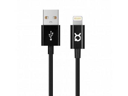 Certifikovaný kabel USB-A/Lightning - Xqisit, 100cm Black