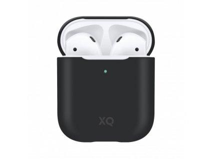 Pouzdro pro sluchátka AirPods - Xqisit, Silicone Case Black