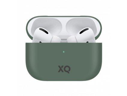 Pouzdro na sluchátka AirPods Pro - Xqisit, Silicone Case Green