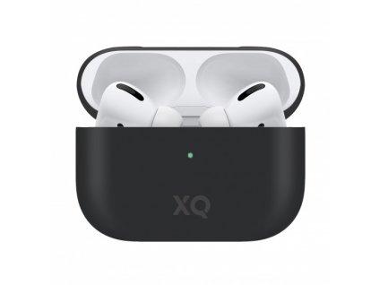 Pouzdro na sluchátka AirPods Pro - Xqisit, Silicone Case Black