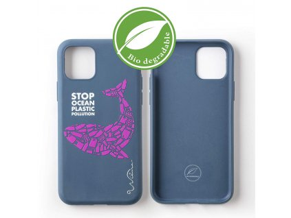 Eko kryt pro iPhone 11 Pro - Wilma, Stop Plastic Whale Blue
